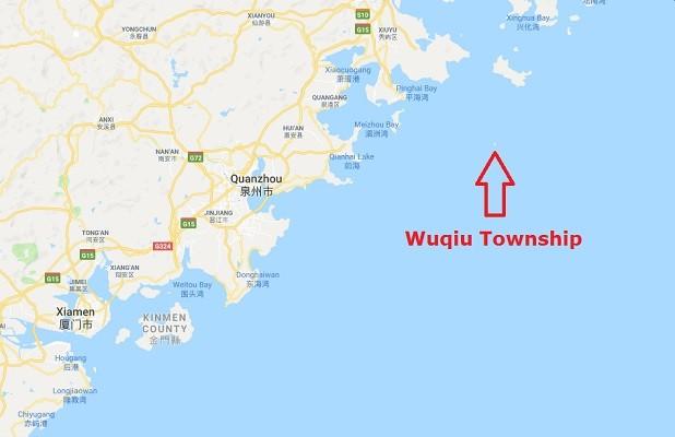 2nd dead hog floats onto Taiwan's Kinmen,... | Taiwan News Dead On Google Maps Location on