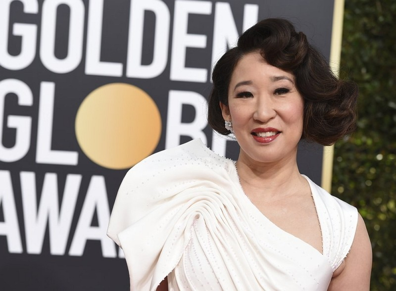 Sandra Oh wins Golden Globe for best TV drama actress (AP)