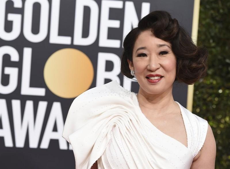 Sandra Oh wins Golden Globe for best TV drama actress (AP)