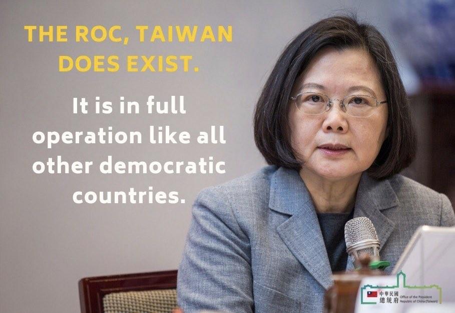 (Image from Tsai Ing-wen Twitter account @iingwen)