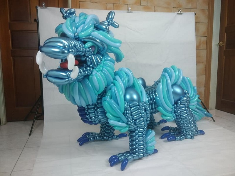 A 'Qilin' balloon artwork (Photo/FB Hung's Balloon Workshop)