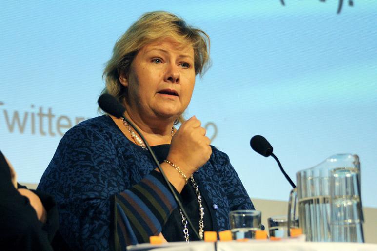 ▲挪威總理瑟爾貝克(圖片取自Flickr)