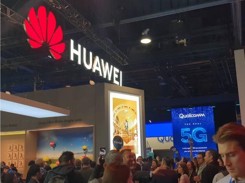 中國華為今年低調參加美國消費性電子展(CES)。中央社