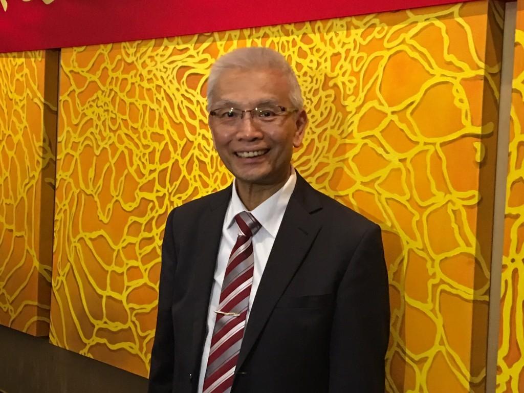 The photo shows Taiwan Futures Exchange (TAIFEX) ChairmanSheu Yu-jer.