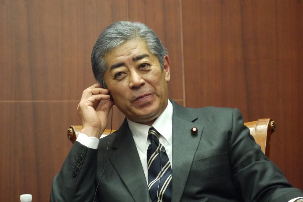 Japanese Defense Minister Takeshi Iwaya