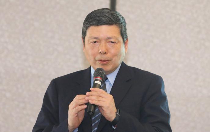外貿協會於新加坡舉行台星企業交流會,圖為祕書長葉明水(圖/中央社)