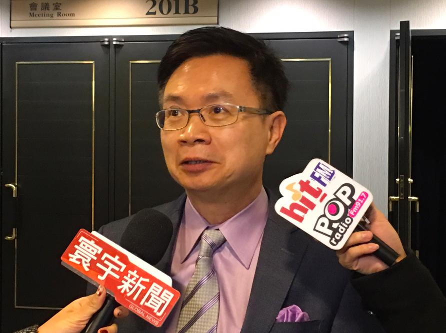 外貿協會15日舉辦台印度貿易論壇,圖為董事長黃志芳(圖/中央社)