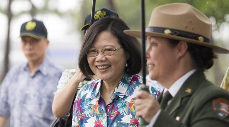 President Tsai Ing-wen transiting in Hawaii in late 2017.