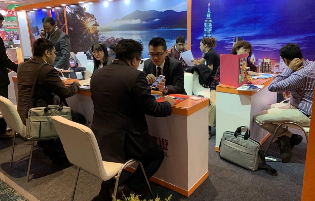 超過200家業者前往台灣館進行一對一洽談
