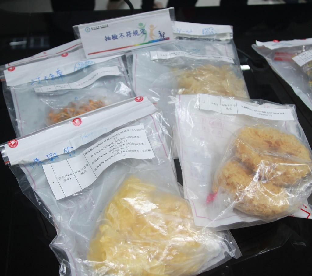臺北市政府衛生局公布市售年節應景食品抽驗結果,受檢的199件商品中,4件品質檢驗結果不符合規定。(圖/臺北市政府衛生局提供)