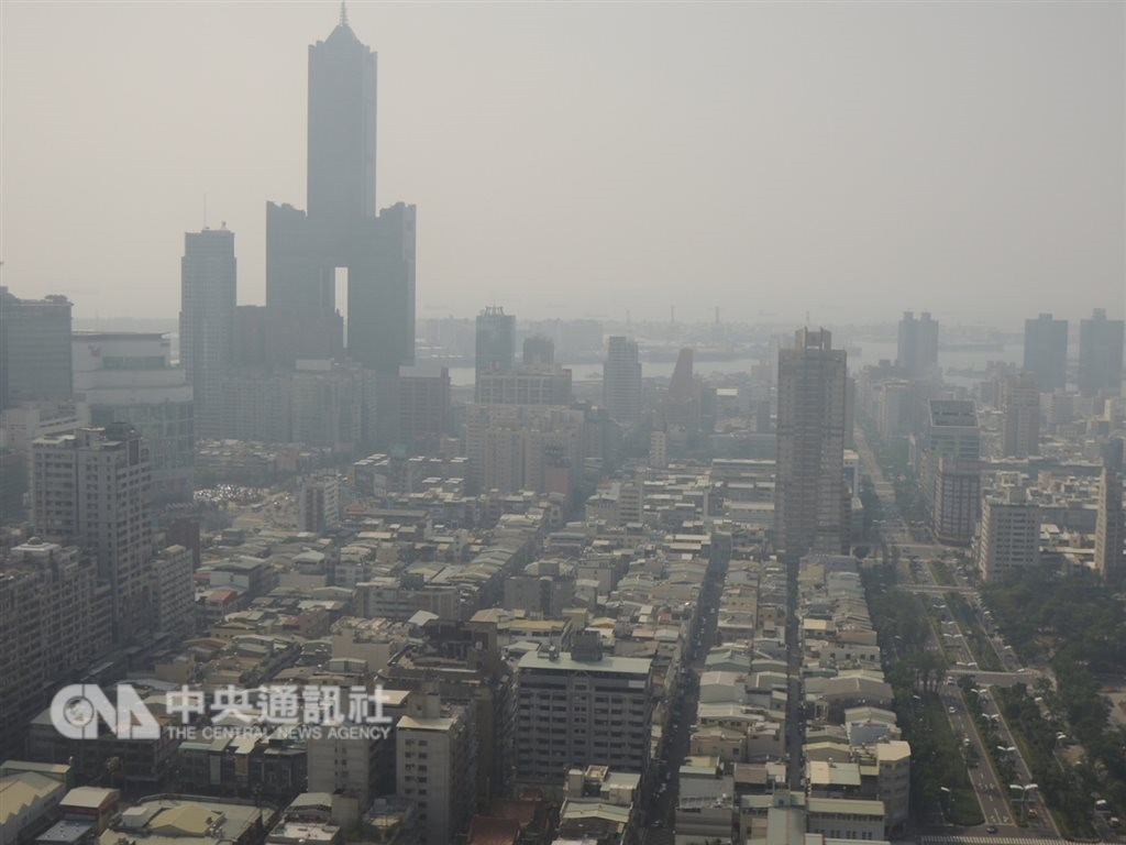 18 monitors flash red warnings for pollution in southern Taiwan