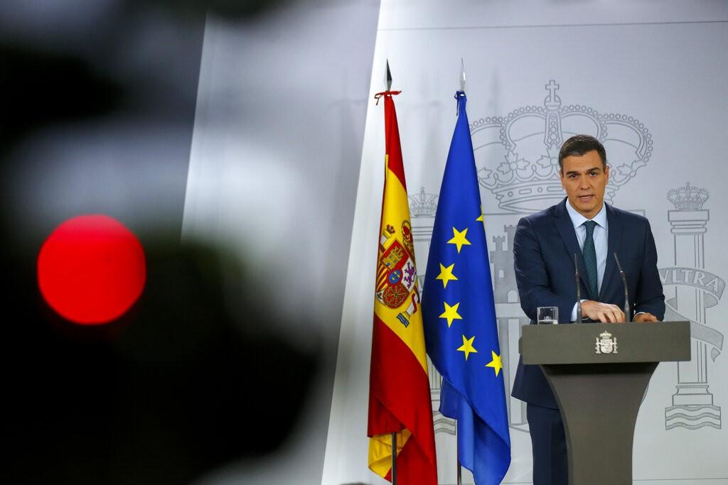 圖為西班牙總理桑傑士(Pedro Sanchez)。(圖/美聯社)
