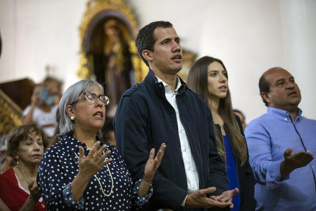 委內瑞拉反對派領袖瓜伊多(圖中)(圖片來源:美聯社)