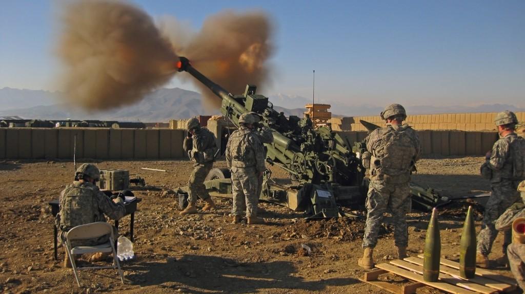 U.S. army's 24km range M777 howitzer