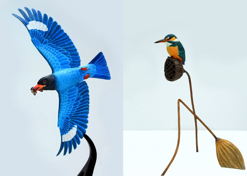 Taiwan/Japan Bird Carving Crafts Exhibition (Photo/NTCRI Taipei Branch)
