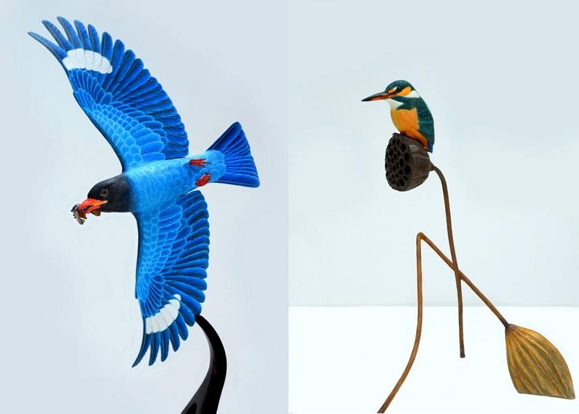 Taiwan/Japan Bird Carving Crafts Exhibition (Photo/NTCRI Taipei Branch)