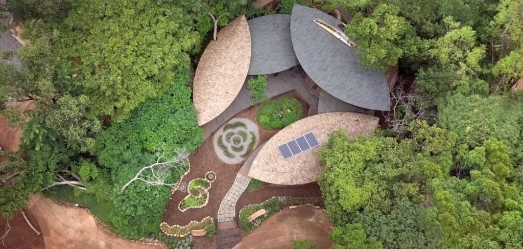 「四口之家」空拍圖。(圖/台中花卉博覽會)