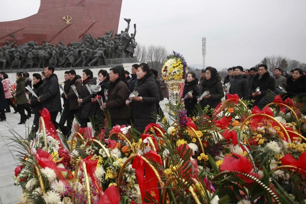 Memorial to late North Korean leaders in Pyongyang
