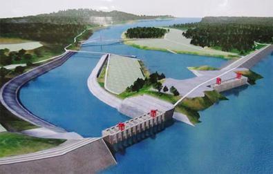 中國欲在伊洛瓦底江源頭興建密松水壩。(維基百科)