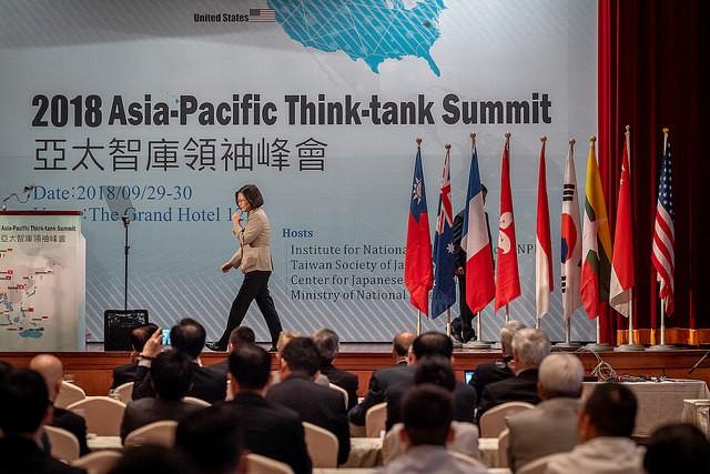 蔡英文總統出席「2018年亞太智庫領袖峰會」。(照片來源:總統府)