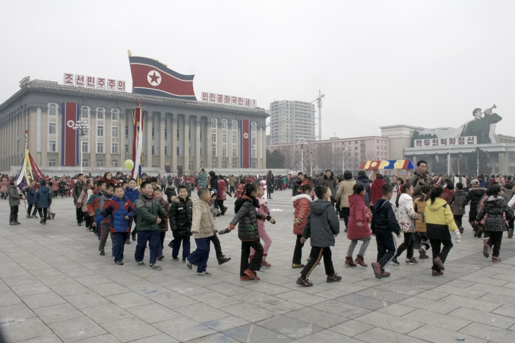 Kim Il Sung Square on New Year's Day