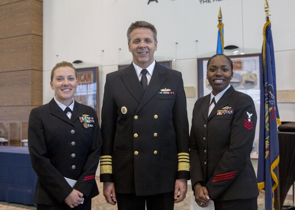 Admiral Philip Davidson (center)