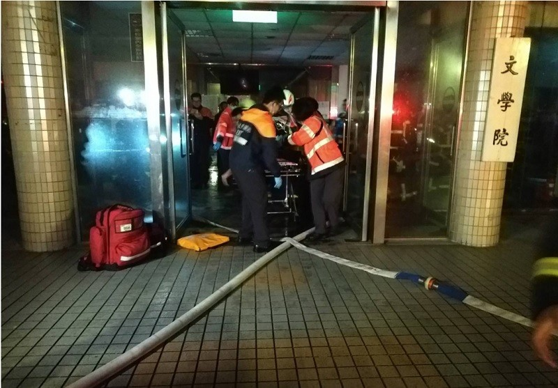 16 people rescued from fire at China Culture University in Taipei, 2 in critical condition