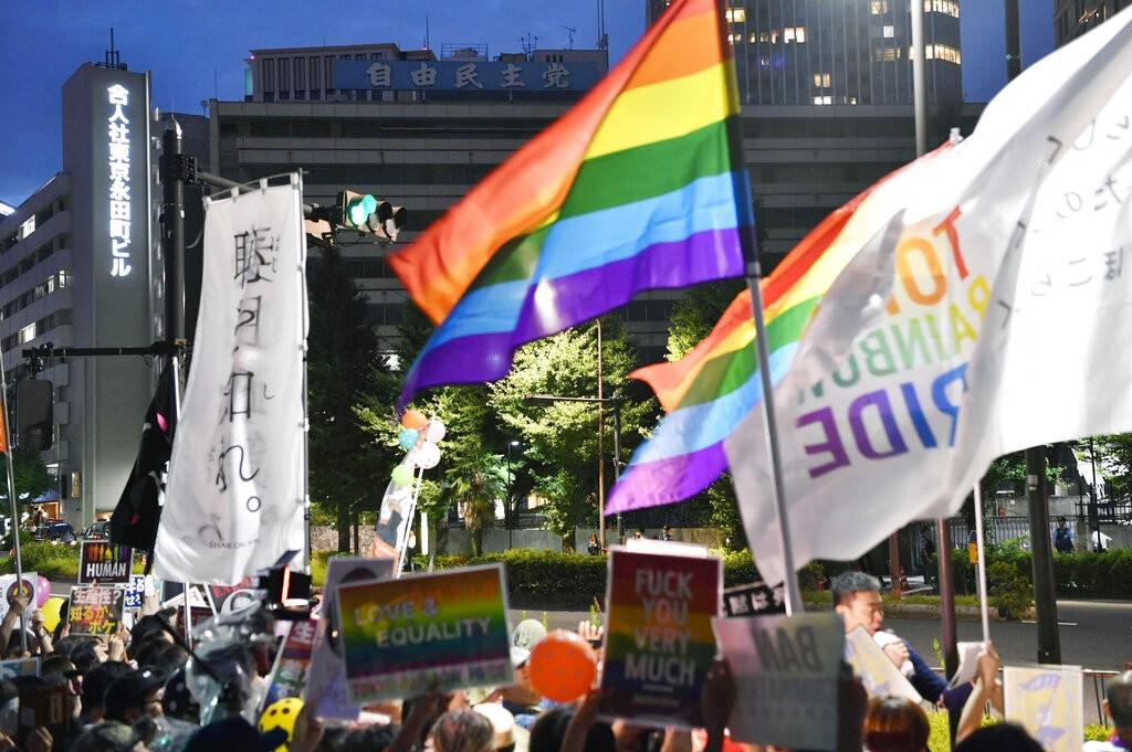 日本LGBT團體2018年7月上街爭取平權(照片來源:資料照片/美聯社提供)