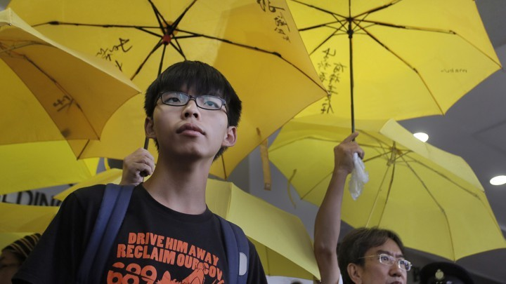 香港眾志秘書長黃之鋒(照片來源:美聯社提供)
