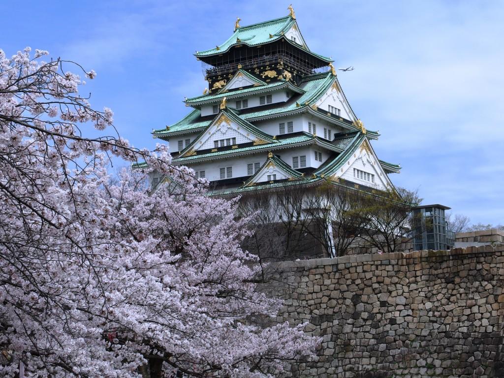 大阪城天守閣。(圖/維基百科)