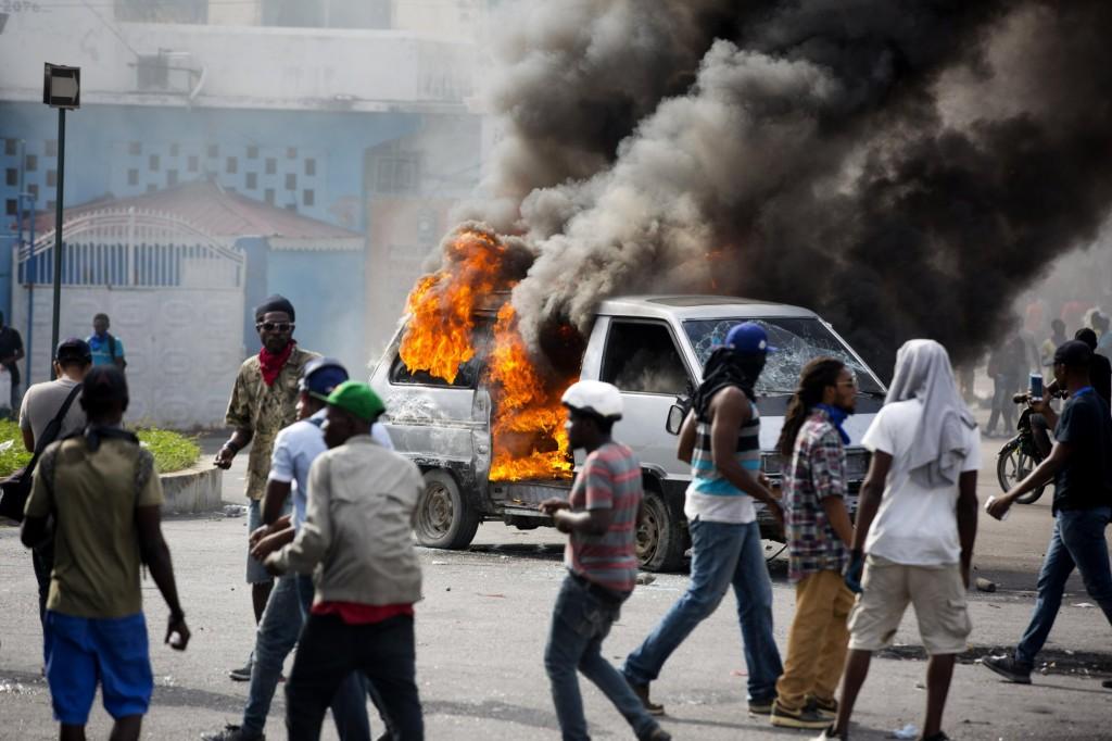 Unrest in Haiti.