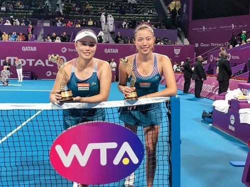 The Chan sisters after a recent victory in Qatar