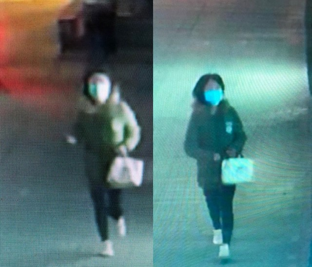 Surveillance footage of suspect. (Images from Tainan Police Department)
