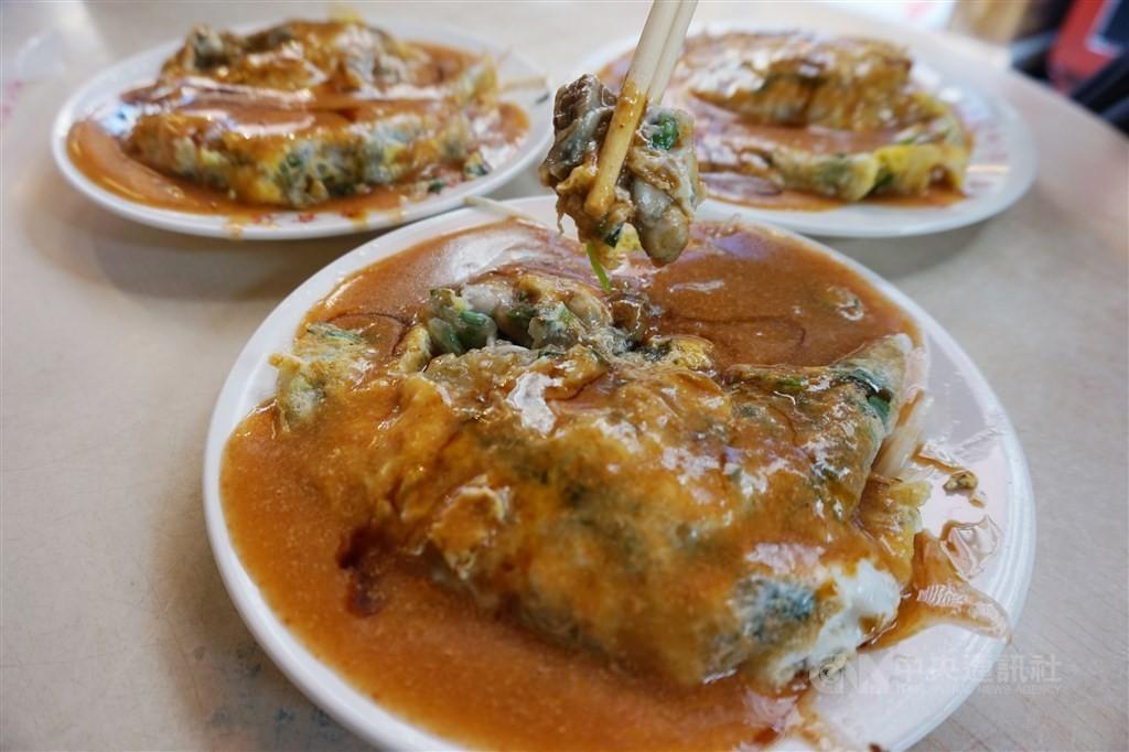 法國快訊以「美食之旅在台北,街頭小吃之都」為題的報導,專門介紹台灣小吃,文章形容蚵仔煎像是一個「鹹鹹的吻」。