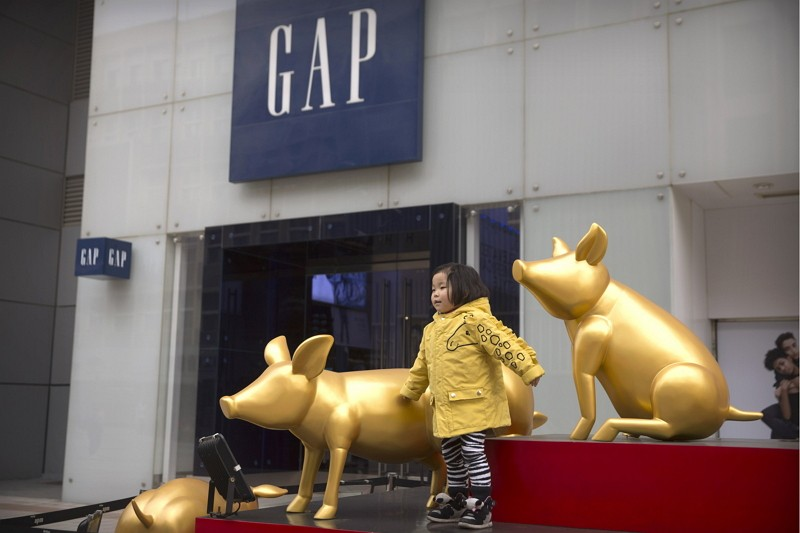 北京GAP店鋪(圖/美聯社)