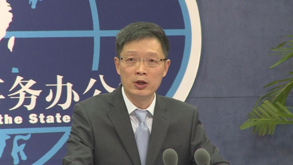 中國國台辦發言人安峰山。