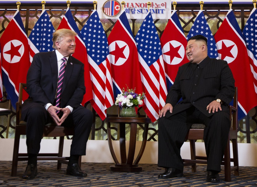 Donald Trump and Kim Jong Un in Hanoi