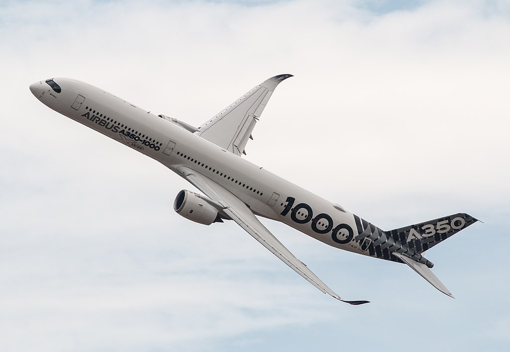 An Airbus A350-1000 (photo by Steve Lynes)