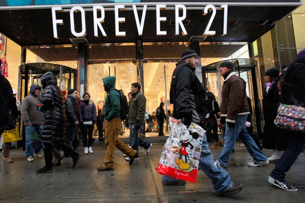 A Forever 21 store overseas.