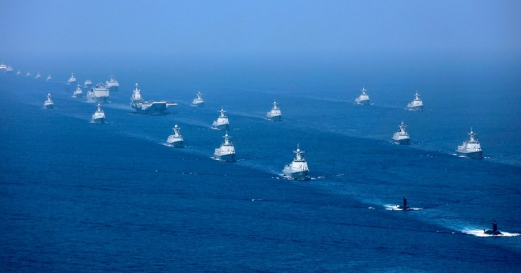 Chinese Navy sails in the South China Sea.
