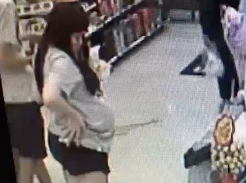 Kuo shopping in Taipei before body of baby found. (New Taipei Police photo)