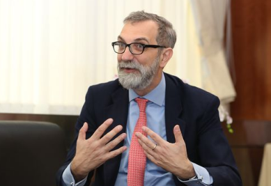 Davide Giglio, the new head of the Italian Economic, Trade and Cultural Promotion Office in Taipei (IETCPO)
