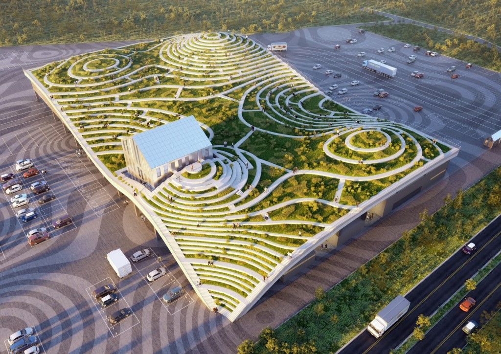 The design of the Tainan Xinhua Fruit and Vegetable Market by MVRDV (Image courtesy of MVRDV)