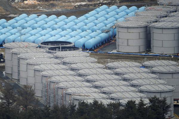 福島第一核電廠儲水槽(圖/東電臉書)
