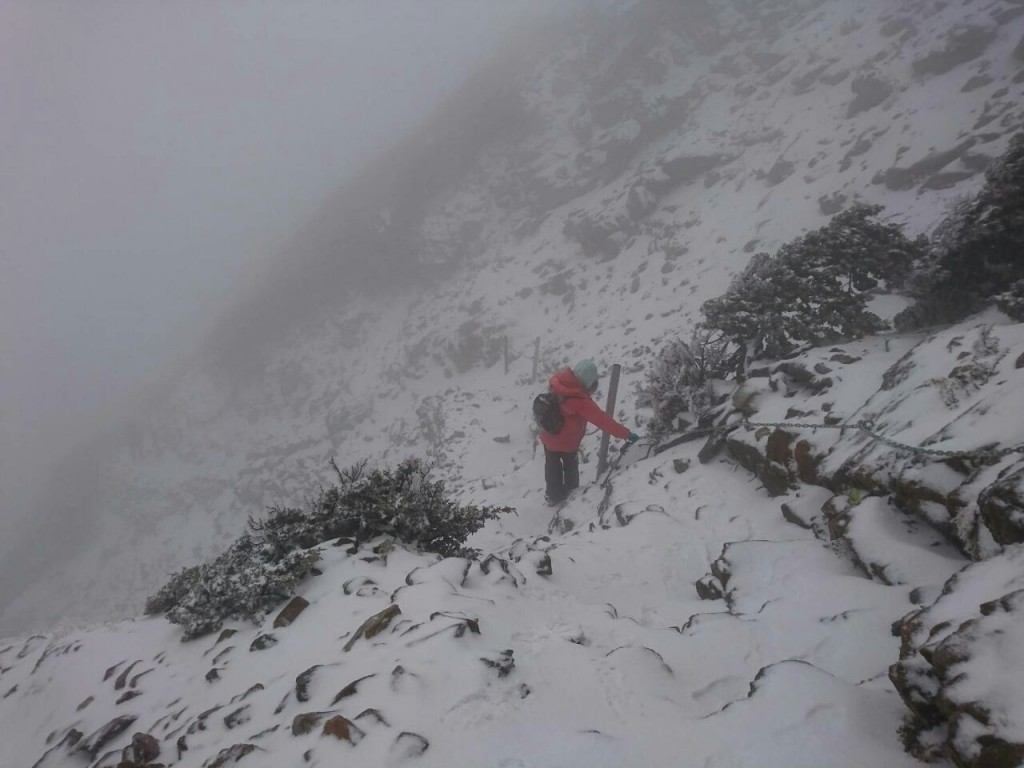 Snow on Yushan. (Image by CWB)