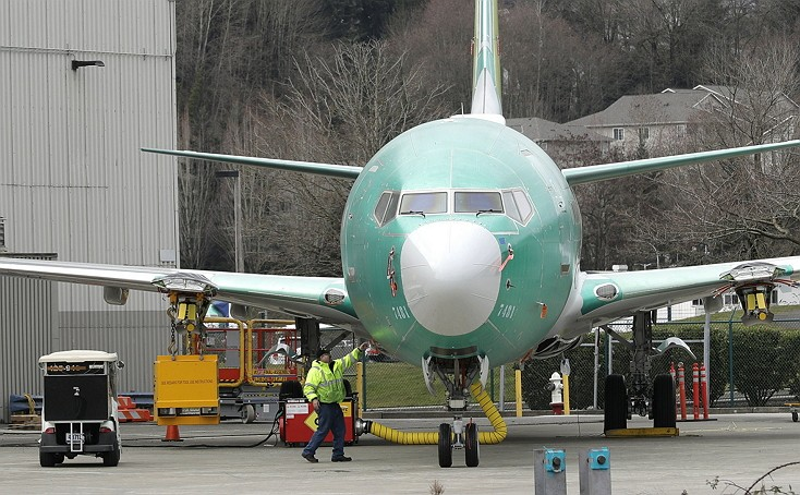 波音737 Max 8型客機(美聯社)