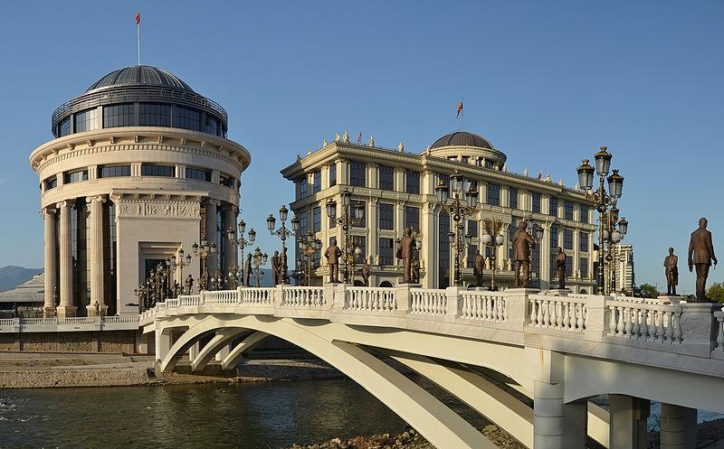 北馬其頓共和國首都暨最大城Skopje一景