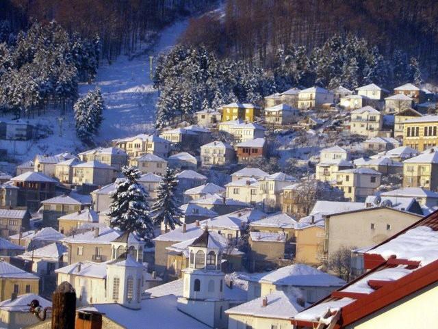 北馬其頓共和國其位於北部的最高城鎮Kruševo一景