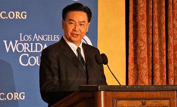 Foreign Minister Wu at the Los Angeles World Affairs Council, March 11