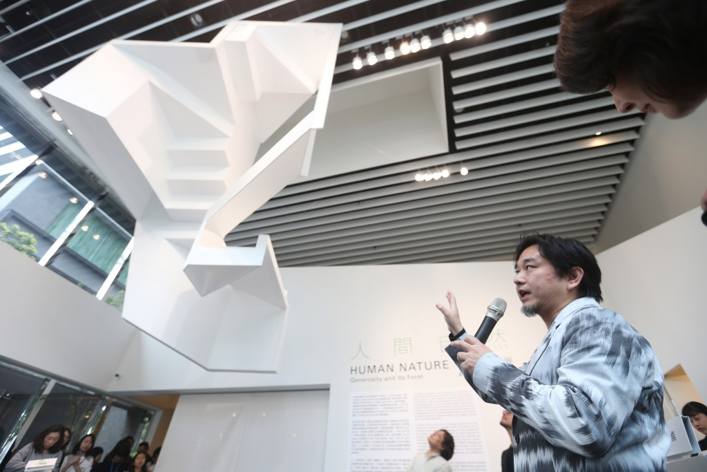 曾獲多項建築獎項的日本建築師平田晃久首度來台舉辦個展(照片來源:中央社提供)